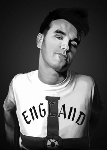 THE SMITHS - MORRISSEY - England Black & white canvas print - self adhesive poster - photo print